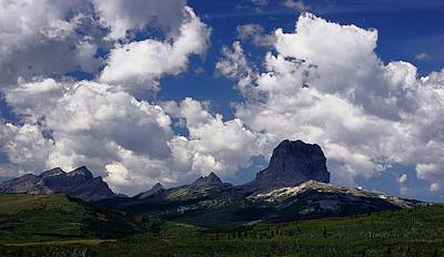 Photograph - Summer Day At Chief Mountain by Tracey Vivar