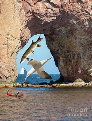 Photograph - Summer Day At Perce Rock by Les Palenik