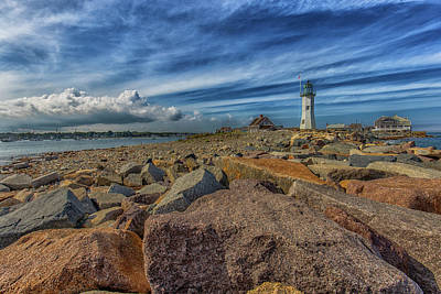 Photograph - Summer Day At Scituate Lighthouse by Brian MacLean