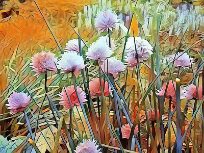 Mixed Media - Summer Day Flowers by Don Wright