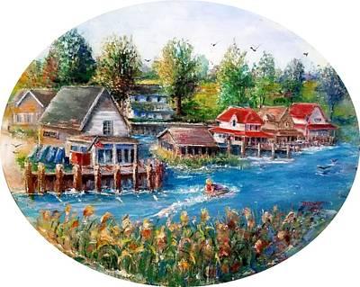 Painting - Summer Day Harsens Island by Bernadette Krupa