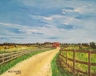 Painting - Summer Day In Sunbury by Vincent Matheney
