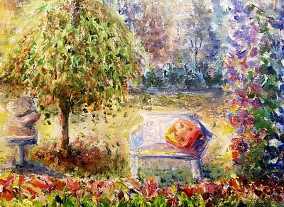 Painting - Summer Day In The Garden by Bernadette Krupa