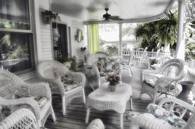 Photograph - Summer Day On The Victorian Veranda by Thomas Woolworth