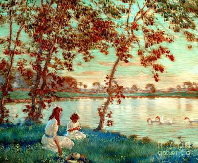 Painting - Summer Days 1918 by Peter Gumaer Ogden Collection