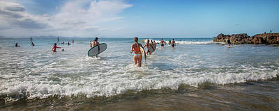 Surfing Photograph - Summer Days Byron Waves by Az Jackson