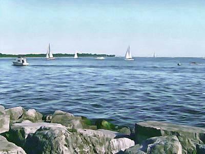 Digital Art - Summer Days On Lake Ontario by Leslie Montgomery
