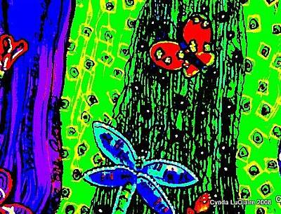 Dragonflys Painting - Summer Daze by Cynda LuClaire