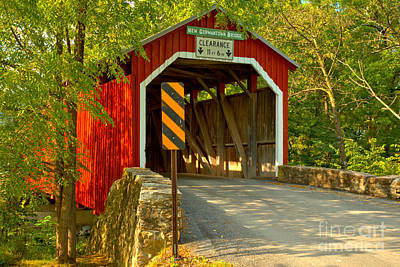 Photograph - Summer Delight At The New Germantown Covered Bridge by Adam Jewell