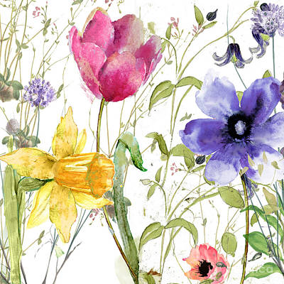 Blooming Painting - Summer Diary by Mindy Sommers