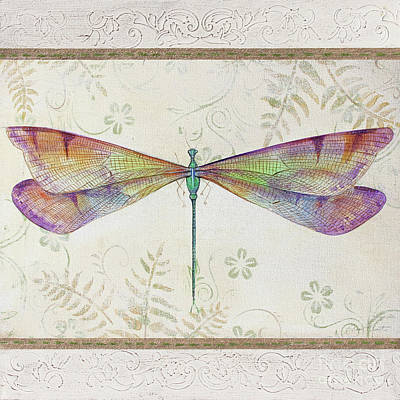 Painting - Summer Dragonfly 2 by Jean Plout