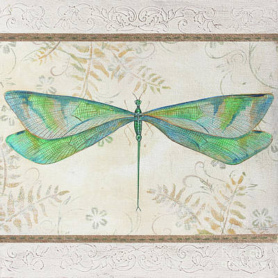 Painting - Summer Dragonfly 3 by Jean Plout