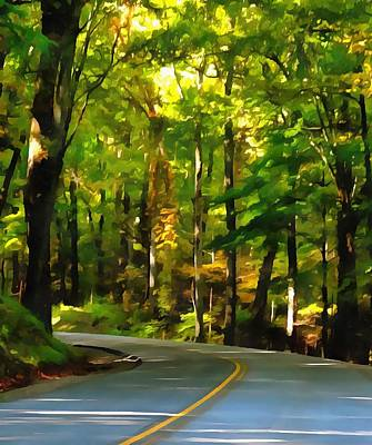The Trees Mixed Media - Summer Drive In The Country by Dan Sproul
