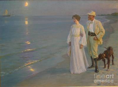 Summer Evening At Skagen Painting - Summer Evening At Skagen by MotionAge Designs