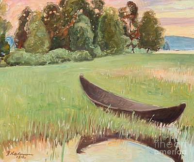 Pekka Wall Art - Painting - Summer Evening By The Shore by Celestial Images