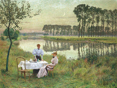 Painting - Summer Evening by Emile Claus