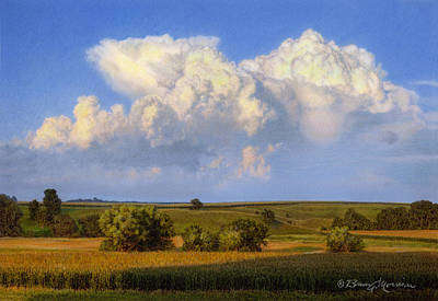 Clouds Drawing - Summer Evening Formations by Bruce Morrison
