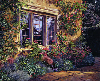 Bedding Painting - Summer Evening Glow by David Lloyd Glover