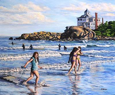 Painting - Summer Evening Good Harbor Beach by Eileen Patten Oliver