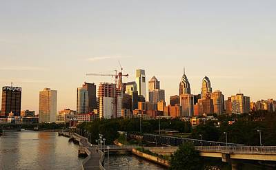 Photograph - Summer Evening In Philadelphia by Ed Sweeney