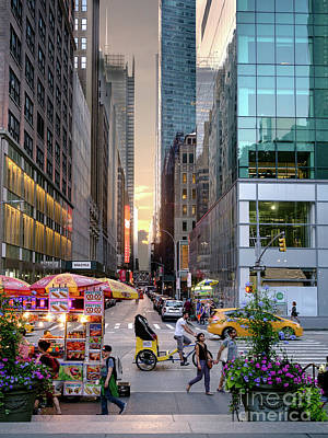 Summer Evening, New York City  -17705-17711 Art Print