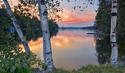 Maine Mountains Photograph - Summer Evening On Highland Lake by Darylann Leonard Photography