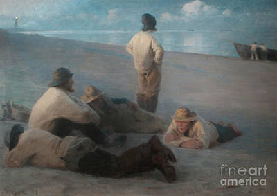 Summer Evening On The Beach At Skagen, 1884  Art Print
