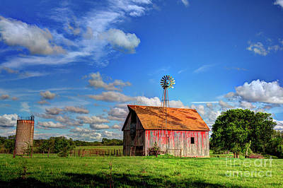 Photograph - Summer Evening On The Farm by Jean Hutchison