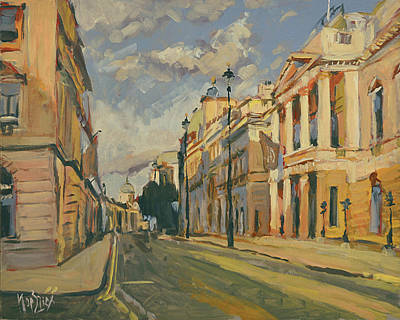 Painting - Summer Evening Pall Mall London by Nop Briex