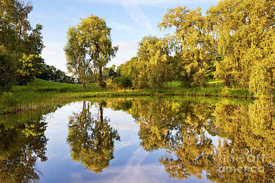 Photograph - Summer Evening Reflections by Alan L Graham