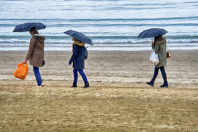 Photograph - Summer Evening Stroll Along Weymouth Beach by Chris Day