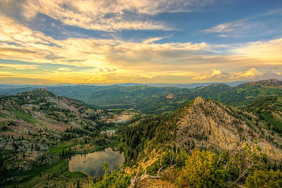 Summer Evening View From Sunset Peak Art Print