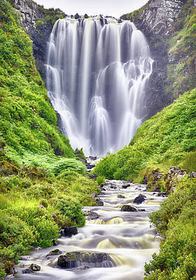 Photograph - Summer Falls At Clashnessie by Chris Puddephatt
