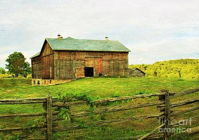 Old Barn Drawing Photograph - Summer Farm Moment by Anthony Djordjevic