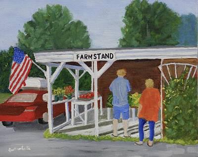Summer Farm Stand Art Print