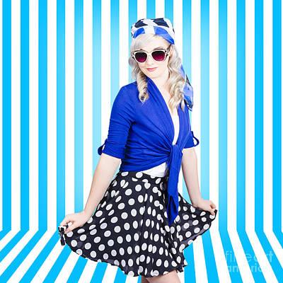 50s Photograph - Summer Fashion Portrait. Model Girl. Retro Look by Jorgo Photography - Wall Art Gallery