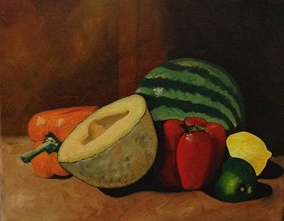 Cantaloupe Painting - Summer Favorites by Tammy Powell