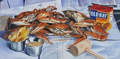 Local Food Painting - Summer Feast by Elizabeth Blanchard