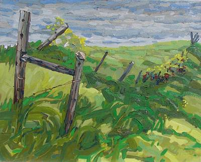 Painting - Summer Fence by Phil Chadwick