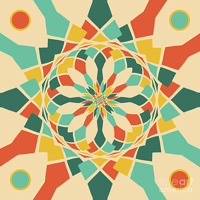 Abstract Colorful Algorithmic Digital Contemporary Digital Art - Summer Festival by Gaspar Avila