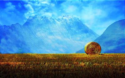 Mountain Valley Mixed Media - Summer Field by Enki Art