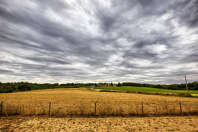 Photograph - Summer Field Under A Stormy Sky by Georgia Fowler