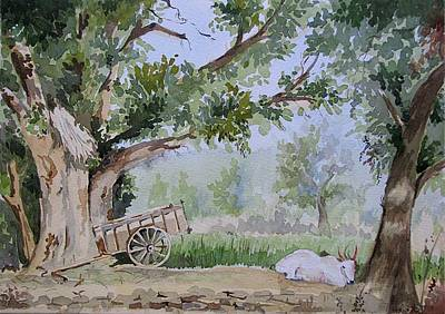 Bullock-cart Painting - Summer Field by Vijay Patil