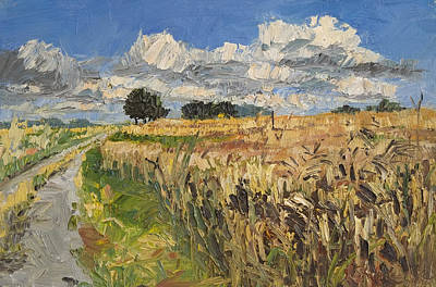 Summer Fields Plein Air Landscape Art Print by Martin Stankewitz