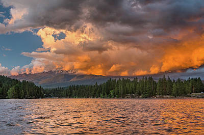 Photograph - Summer Fire Sunset Over Siskiyou by Greg Nyquist