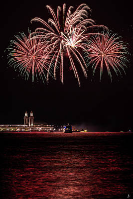 Photograph - Summer Firework Over Navy Pier by Patrice Bilesimo
