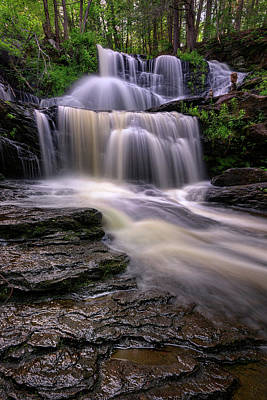 Photograph - Summer Flow At Garwin Falls by Rick Berk