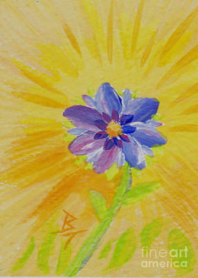 Painting - Summer Flower Aceo II   by Brenda Thour