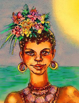 Mixed Media - Summer Flower by Svetlana Nassyrov