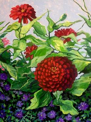 Painting - Summer Flowers 3 by Jeanette Jarmon